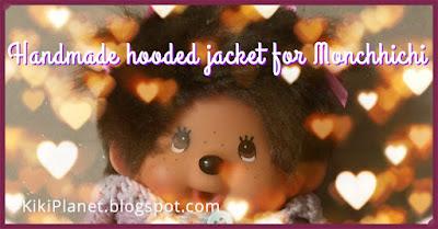 kiki monchhichi handmade fait main pull tricot knitting clothes vetement poupée doll