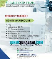 Bursa Kerja Surabaya di PT. Laris Manis Utama Terbaru November 2019