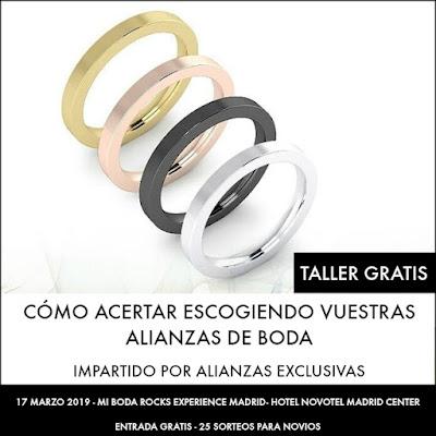 taller como escoger tus alianzas de boda mi boda rocks experience madrid 2019