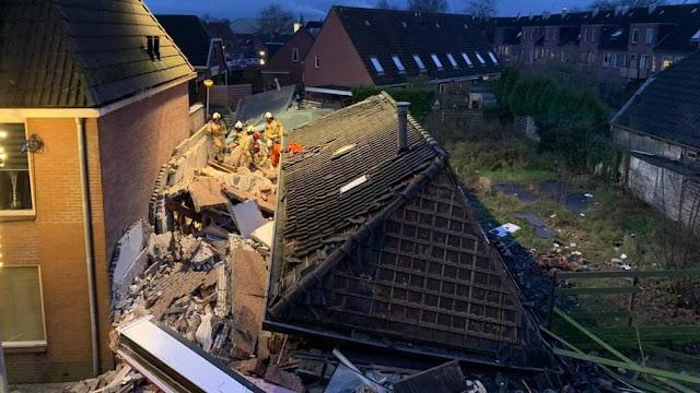 هولندا.. انهيار مبنى وإصابة شخصين جراء انفجار في مطعم