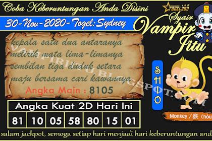 Syair Vampir Jitu Togel Sydney Senin 30 November 2020