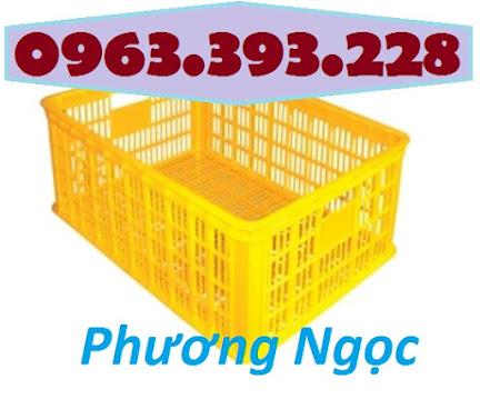 Sóng nhựa hở HS014, sọt nhựa rỗng công nghiệp, sọt nhựa đựng hàng hóa SR254