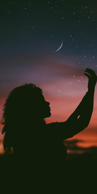 Hái sao trên bầu trời đêm đẹp lãng mạn