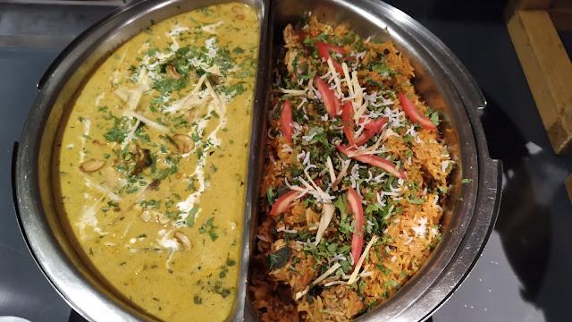 Food gravy and briyani in buffet dinner ideas Mosiac restaurant Navi Mumbai