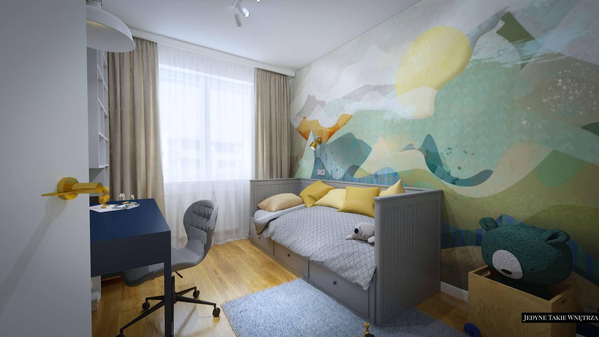 Projekty wnętrz - pokój dziecięcy w mieszkaniu glamour