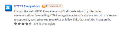 Add-Ons Extensions - HTTPS Everyware for Mozilla Firefox