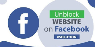 How to unblock website  from facebook