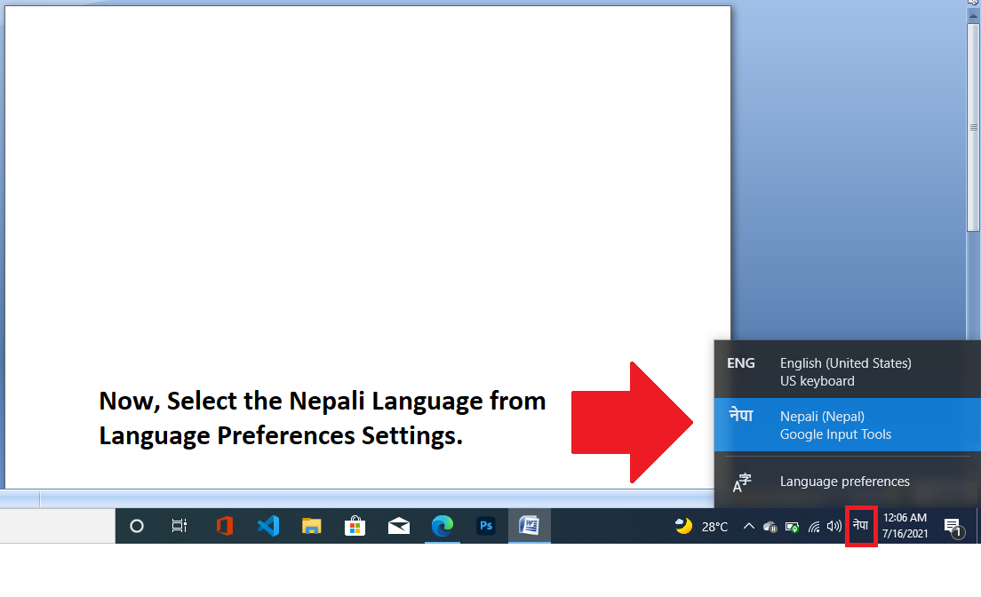 How to type in Nepali in Laptop