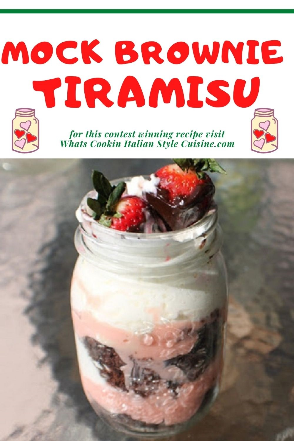 this is a pin for later brownie tiramisu recipe