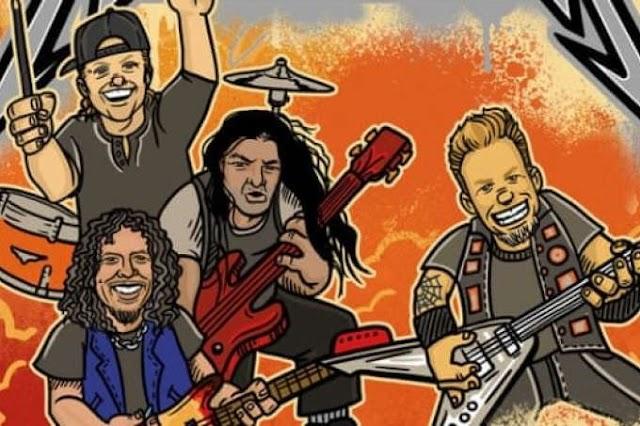 Histórico da banda Metallica em Livro Infantil