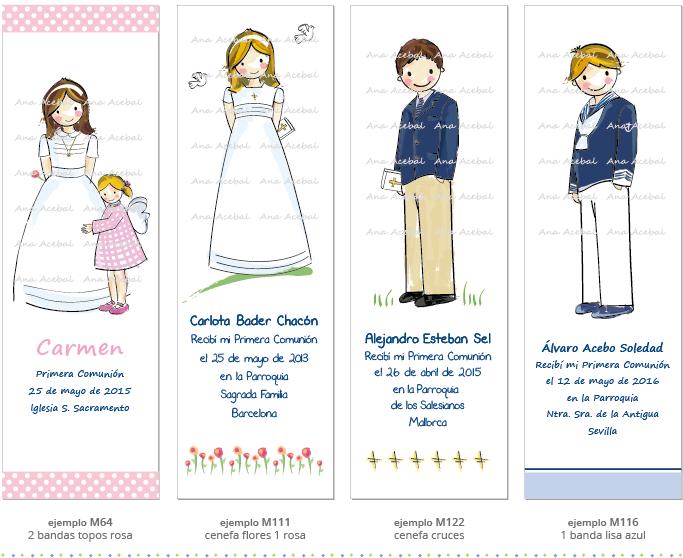 Recordatorios de comunion personalizados, puntos de libro, marcapaginas originales