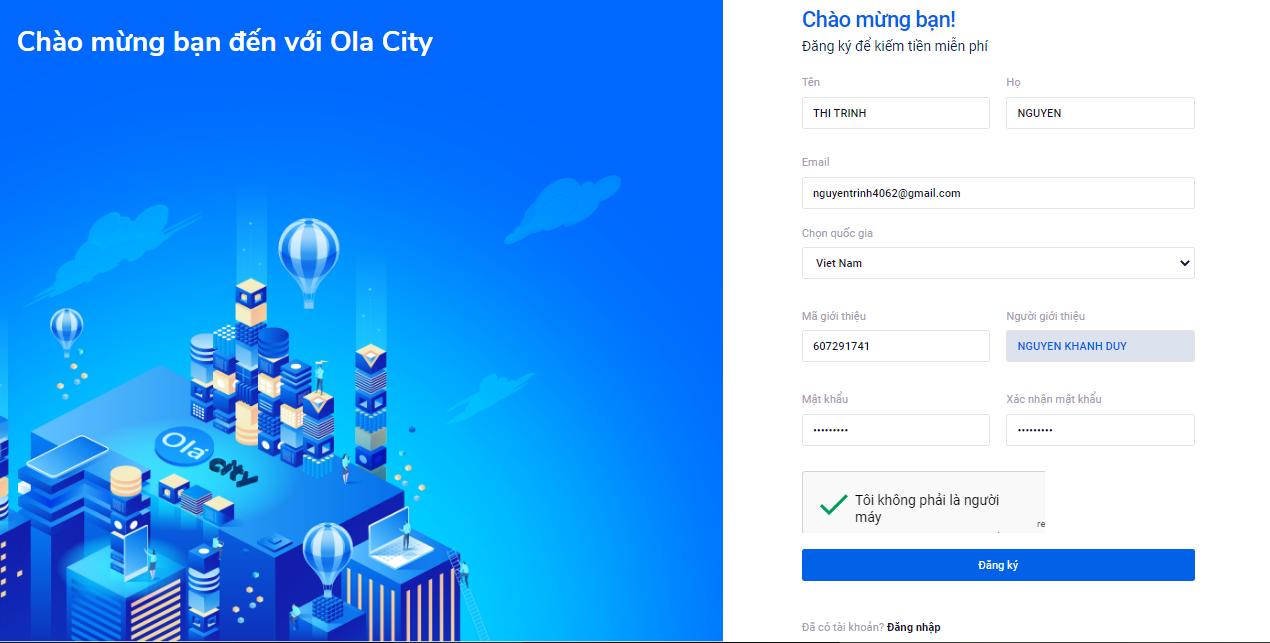 Hướng dẫn cách kiếm tiền online trên Ola City