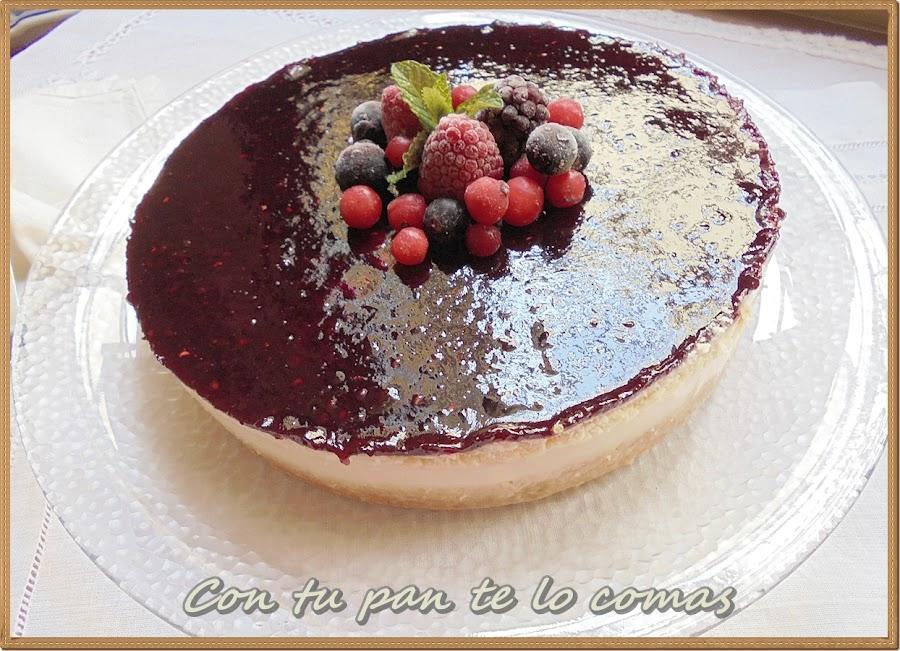 Tarta de chocolate blanco y mermelada