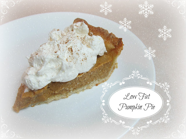Low Fat Pumpkin Pie