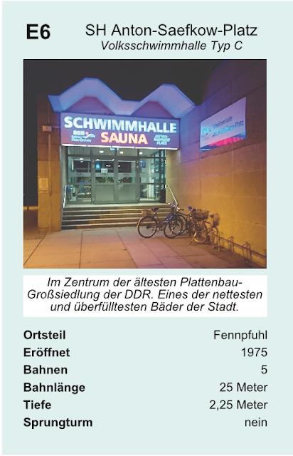 Quartettkarte Schwimmhalle Anton-Saefkow-Platz