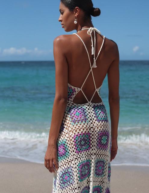 sukienka plażowa szydełkiem