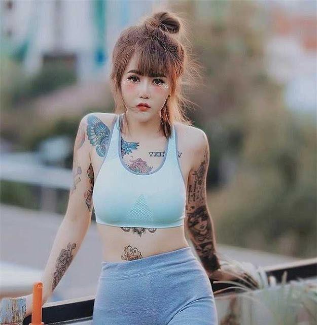 """3 """"kiều nữ xăm"""" Thái Lan: Mặt xinh như búp bê, da dính mực vẫn đẹp nuột nà"""