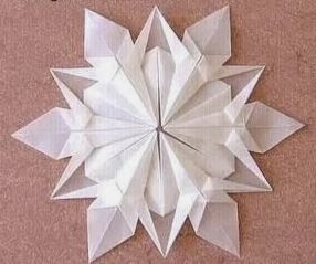 snow flake origami origami photos. Black Bedroom Furniture Sets. Home Design Ideas