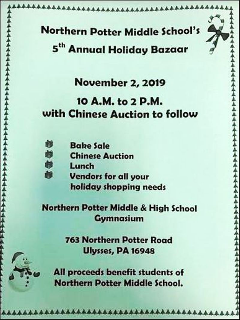 11-2 NoPo Middle School's 5th Annual Holiday Bazaar