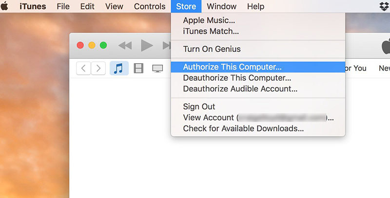 authorize a computer with itunes