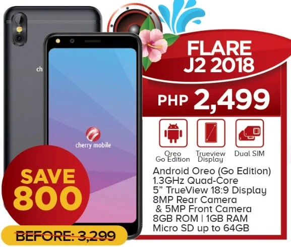 Cherry Mobile Flare J2 2018 Now Only Php2,499