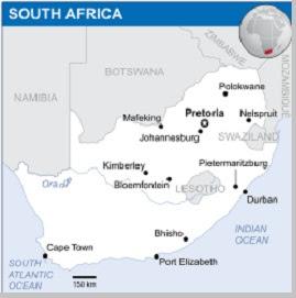 Pembagian wilayah administrasi Afrika Selatan