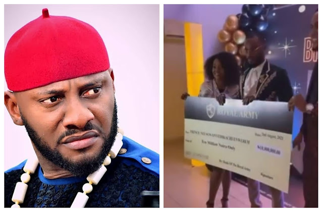 Abeg where una dey see this kind fans, My fans beg me for money- Actor Yul Edochie cries out as fans of Prince gifted him N10M Cash
