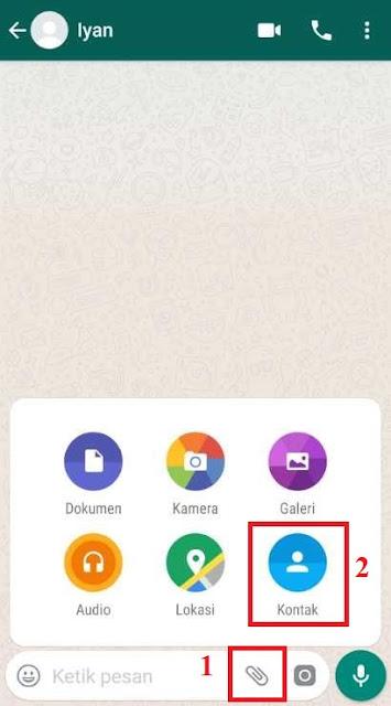 Cara Kirim Nomor Kontak Via Whatsapp (WA)