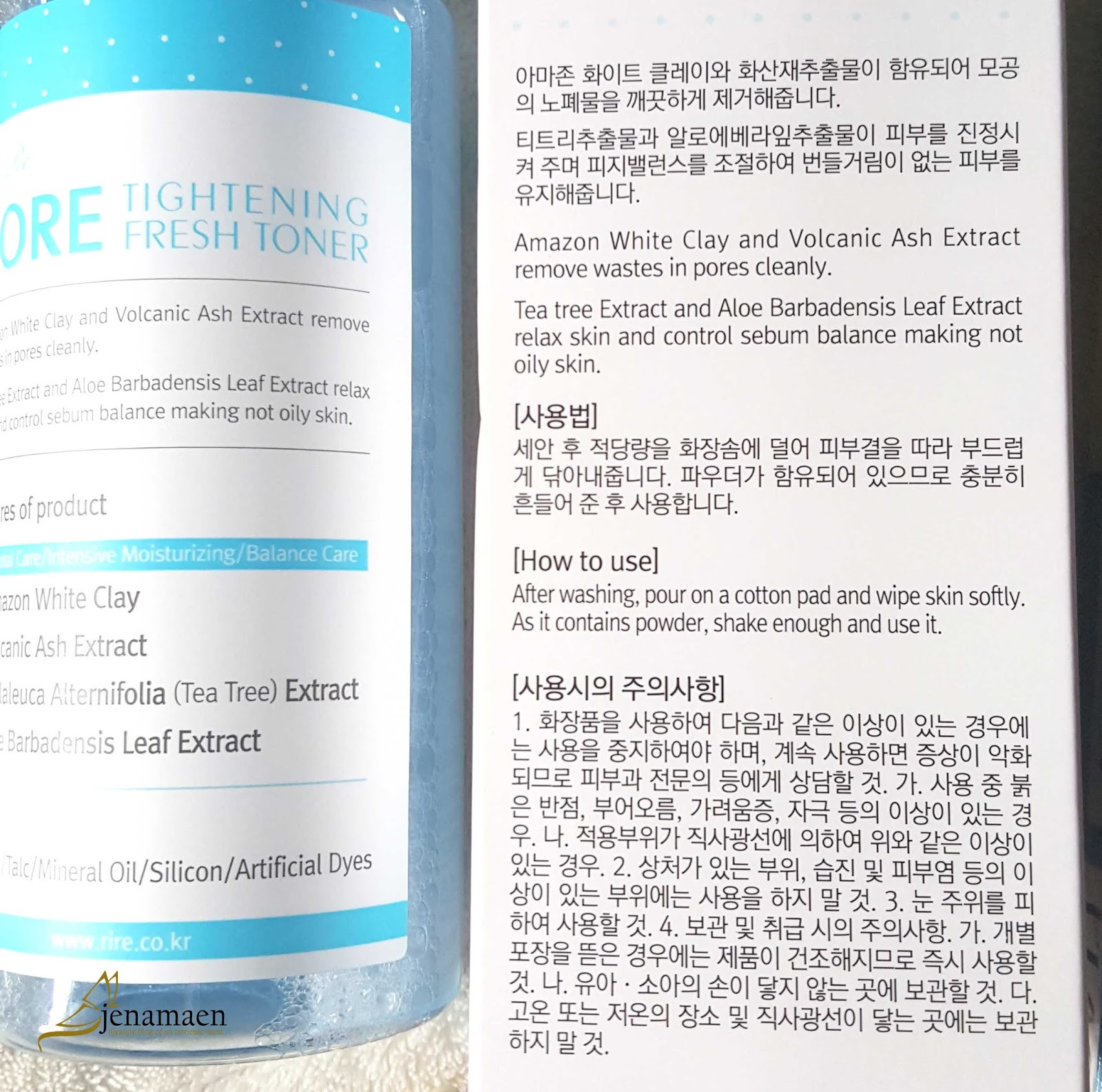 Review: RiRe Pore Tightening Fresh Toner