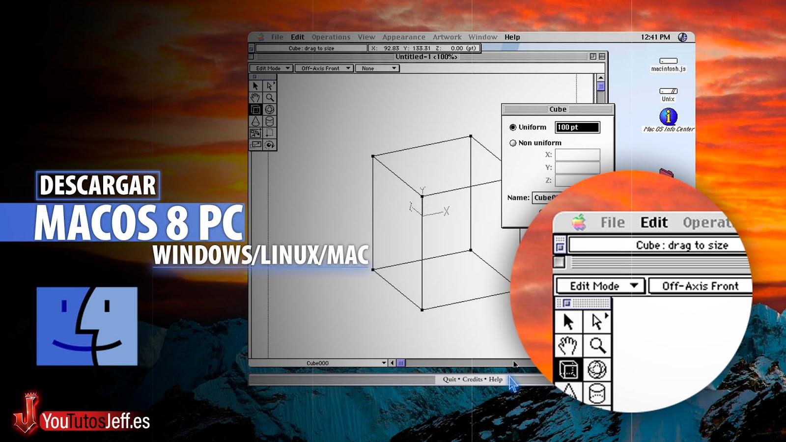 Como Descargar MacOS 8 en Windows, Linux o Mac