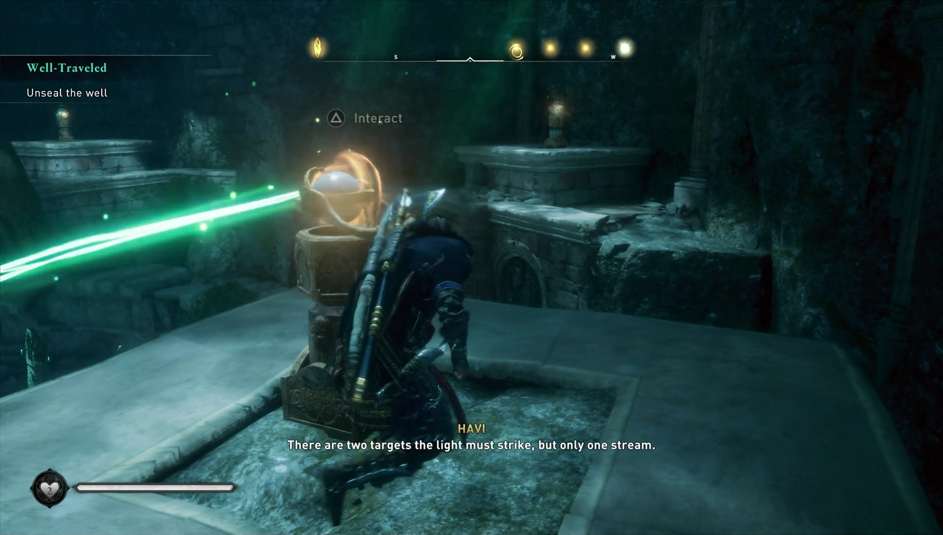Assassin's Creed: Valhalla. Solving the puzzle with rays and mirrors screenshot 1