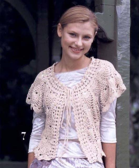 Patrón #775: Chaqueta Volada a Crochet