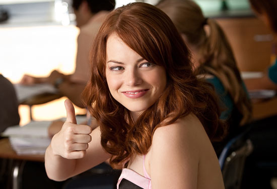 Girl Watching Stars Wallpaper Videopub S Movie Reviews Easy A