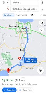 Foto google map Batu bintang