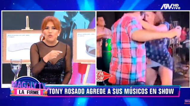 """Tony Rosado es calificado por Magaly Medina como """"patán"""" al faltarle el respeto a mujer en concierto"""