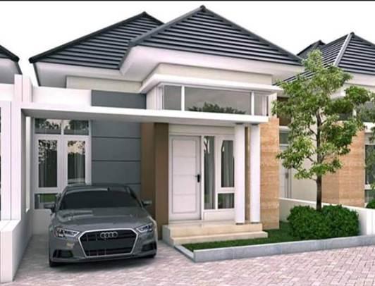 Model tampak depan rumah 1 Lantai desain minimalis