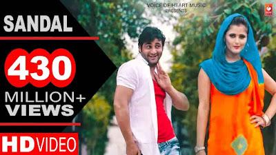 Sandal lyrics Haryanvi DJ Song 2016 | Raju Punjabi, Sonika Singh