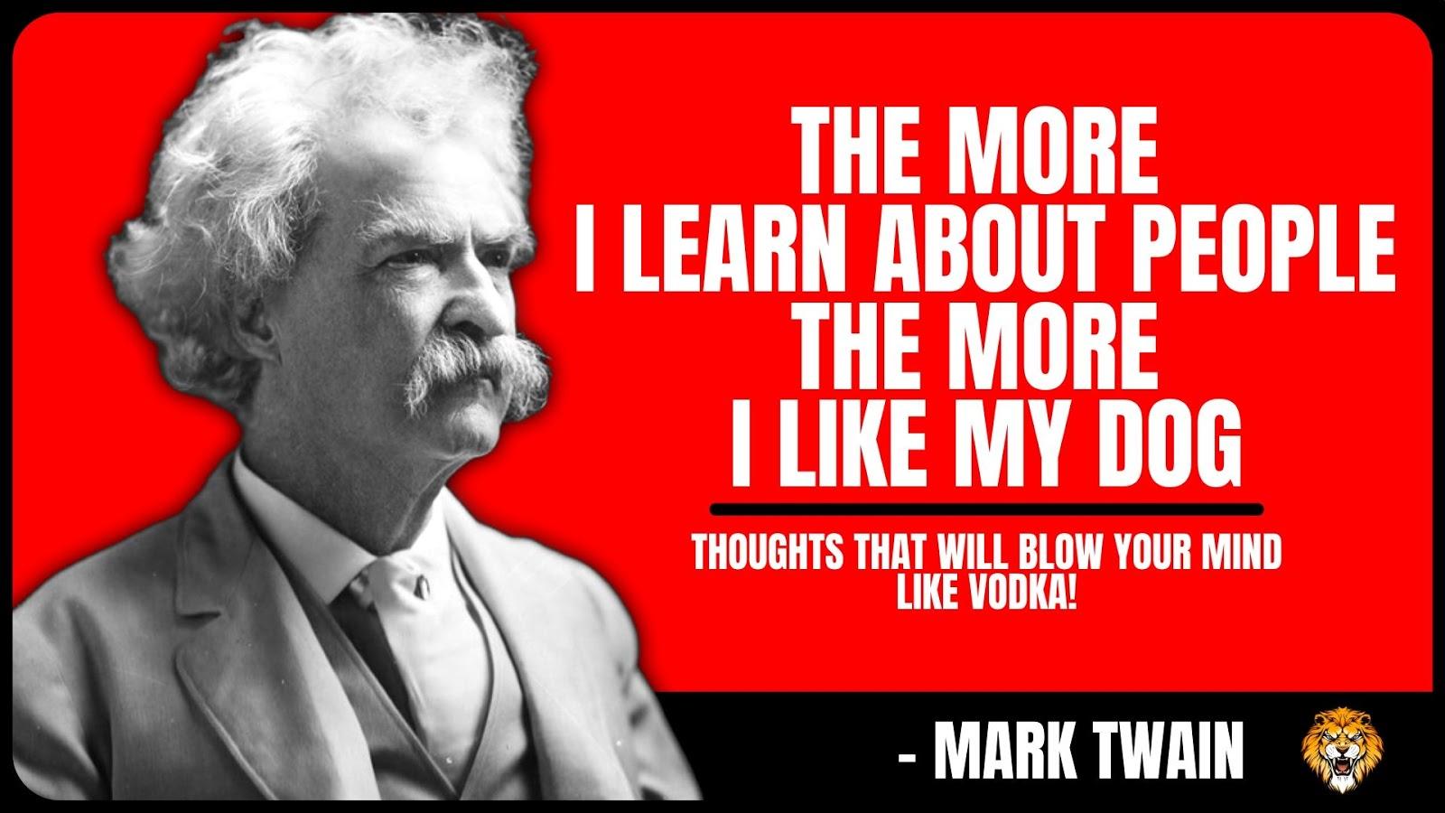 Mark Twain Quote Wallpaper for Desktop: Inspirational Quote Wallpaper