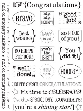 SRM Stickers Blog - 1 Sticker, 4 Cards by Lesley - #stickers #sentiments #congrats