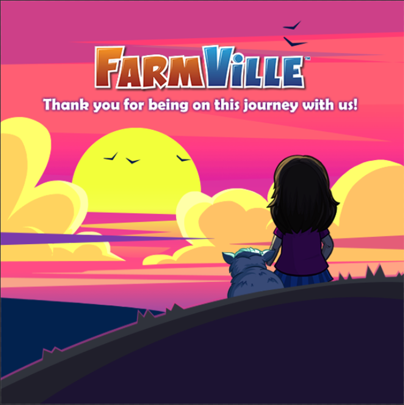 Farmville is saying goodbye by the end of 2020