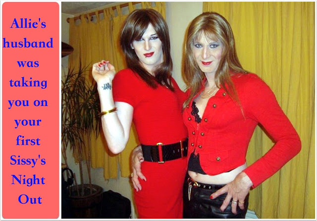 First Sissies Night Out- Coerced Into Skirts - Crossdressing and Sissy Tales and Captioned images