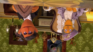 Upside Downton Abbey, Farson, Lady Schmanthum, Sesame Street Episode 4315 Abby Thinks Oscar is a Prince season 43