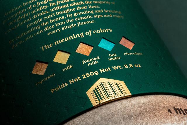 Hermoso concepto de packaging para una marca de café Arabe