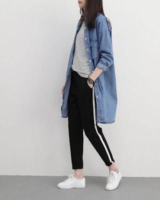 outfit con pants deportivo coreano tumblr casual de moda