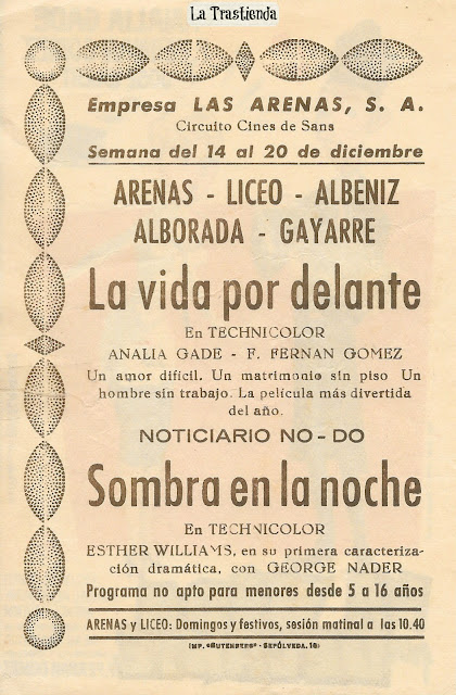 Programa de Cine - La Vida por Delante - Analía Gadé - Fernando Fernán Gómez - José Isbert - Rafaela Aparicio