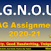 IGNOU BAG Assignments 2020-21 :  Free Download IGNOU Assignments