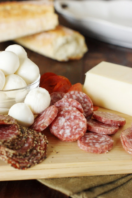 Antipasto Platter Selection of Cheeses & Meats
