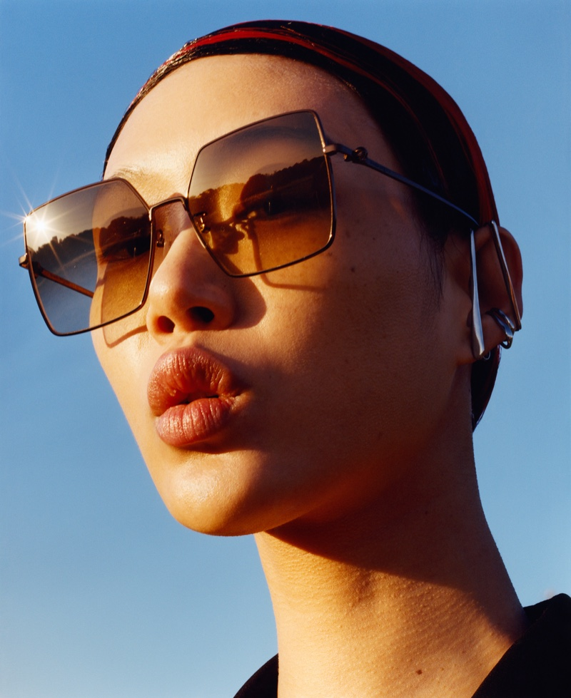 Sunglasses stand out in Alexander McQueen fall-winter 2020 campaign.