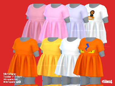 Toddler F T-Skirt for The Sims 4