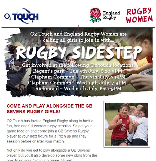 Venus Rugby News: Come and play alongside the GB 7s Rugby Girls